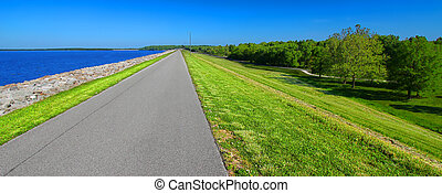 Carlyle Lake Bike Path Illinois - Bike path along the...