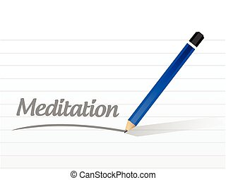 meditation message post illustration design over a white...