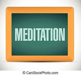 meditation board sign illustration