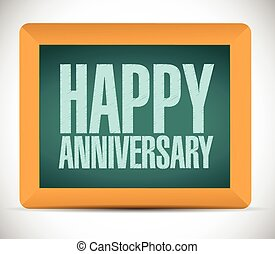 happy anniversary board sign