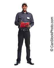 trabalhador, homem, africano-americano