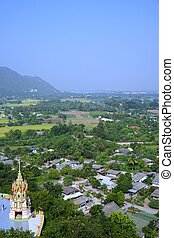 Thai non-urban view - top view of non-urban landscape in...