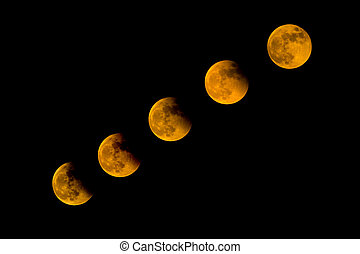Lunar - Total Lunar Eclipse 2014 on dark sky