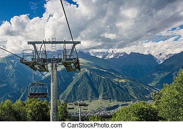 chairlift - Chairlift in mountaine
