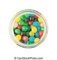Jar full of candy ball sweets - Glass jar full of colorful...