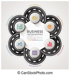 Road And Street Traffic Sign Business Infographic With...