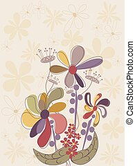 Garden Flowers Pattern Background