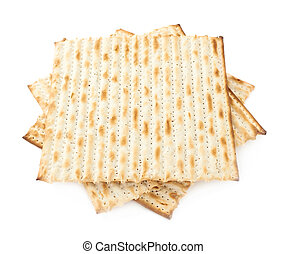 Twisted pile of multiple matza flatbreads - Twisted pile of...