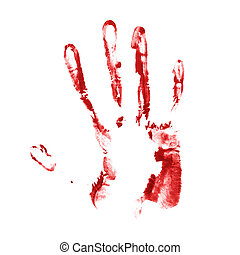 Hand palm oil paint print - Handmade hand palm oil paint...