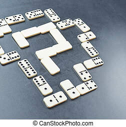 Question mark made with dominos - Question mark made with...