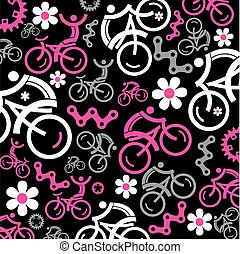 Funny cycling decorative background - Funny Colorful cycling...