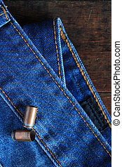 Cartridges On Denim