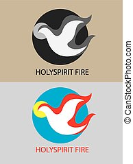 Holy spirit fire, art vector logo design