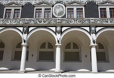 Dresden Stallhof 03 - Detail of inner side of Stallhof...