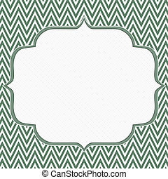 Green and White Chevron Zigzag Frame Background