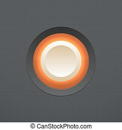 White button. Vector illustration