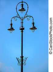 Old street light in Budapest