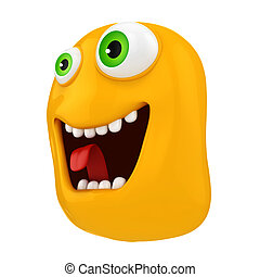3d funny cartoon face