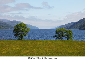 loch ness - View on the Loch Ness from Fort Augustus