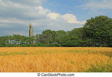 Menhir de Kerloas, France - The menhir of Kerloas, the...