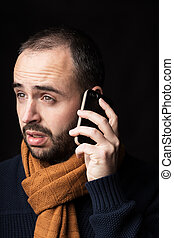 Calling - Young man calling with his phone
