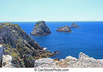 Tas de Pois, France - Les Tas de Pois the pea-islands at the...