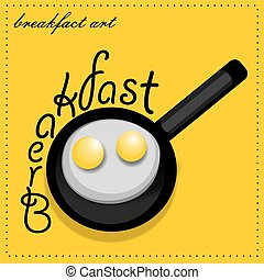 scrambled eggs - Scrambled eggs from a hens egg in a frying...