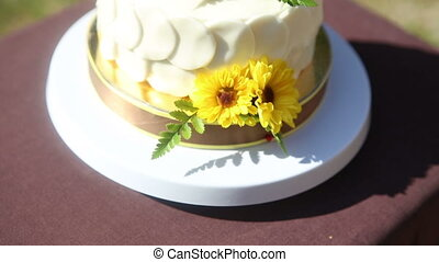 white creamy delicious cake - white creamy cake decorated...