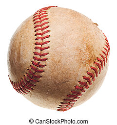 baseball with red stitching baseball isolated on white...