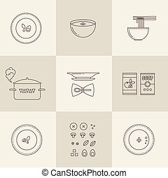 Vector soup icon - flat vector modern Vector soup icon set