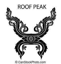 peak of thai or asia roof - Asian arts interior,