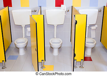 small bathrooms of a school for children - small bathroom of...