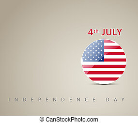 Independence day card with circle decorated as an american...