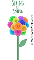 Abctract buttons flower. Spring has sprung. Vector...