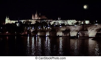 prague by night - prague cityscape