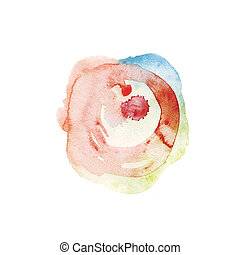 watercolor spot, hand made drawing. suitable for a variety...