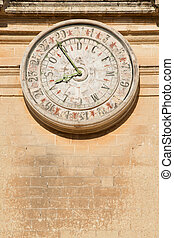 Ancient calendar - Old calendar on St Paul cathedral in...