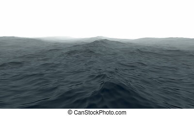 Ocean with fog - Rendering of a ocean with the horizon...