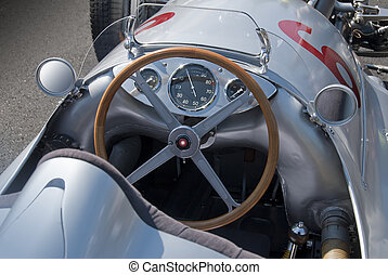 Mercedes W154 cockpit - 1939 all conquering race car cockpit...