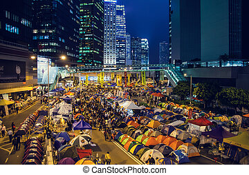 Umbrella Revolution in Hong Kong 2014 - HONG KONG, NOV 12:...