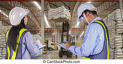 The worker report and check stock in sugar distribution...