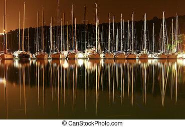 boats in skradin marina, croatia