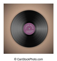Vinyl music record template with background. Vector...
