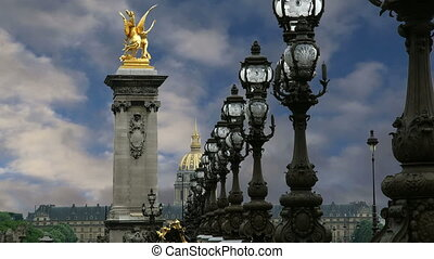 Alexander III bridge- Paris, France - The Alexander III...