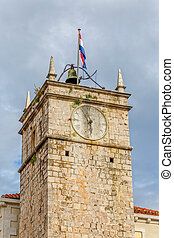 Supetar old clock tower - The old clock tower in Supetar...