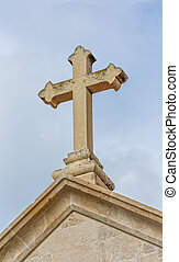 Supetar church cross - The old church cross in Supetar town...