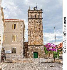 Supetar old clock tower Leroj - The old clock tower in...