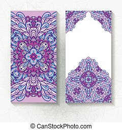 Set of vertical floral banners