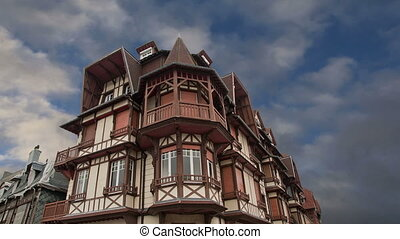 Stylized half-timbered house.France - Stylized half-timbered...