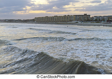 Incoming Tide at Folly Beach - The incoming tide at Folly...